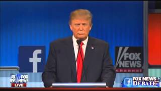 GOP debate: Trump refuses Republican pledge