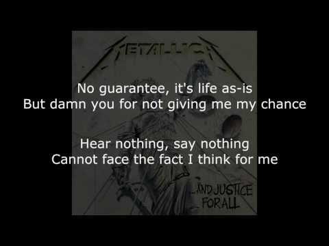 Metallica - Metallica  Dyer's Eve Lyrics (HD)