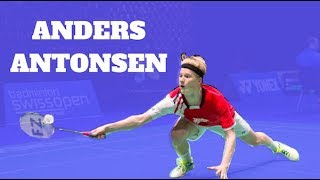 Anders Antonsen TRICKS SHOTS AND HIGHLIGHTS - Badminton 2017