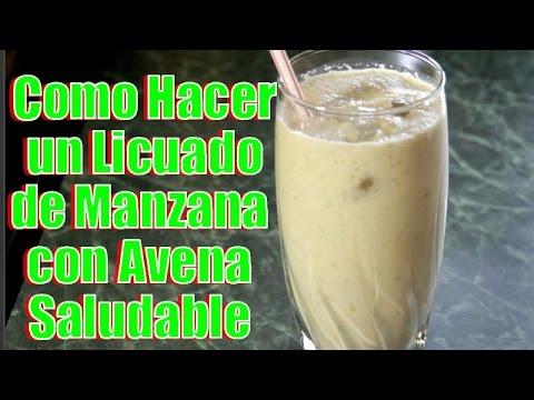 Licuado de Manzana con Avena Saludable - Recetas en Casayfamiliatv
