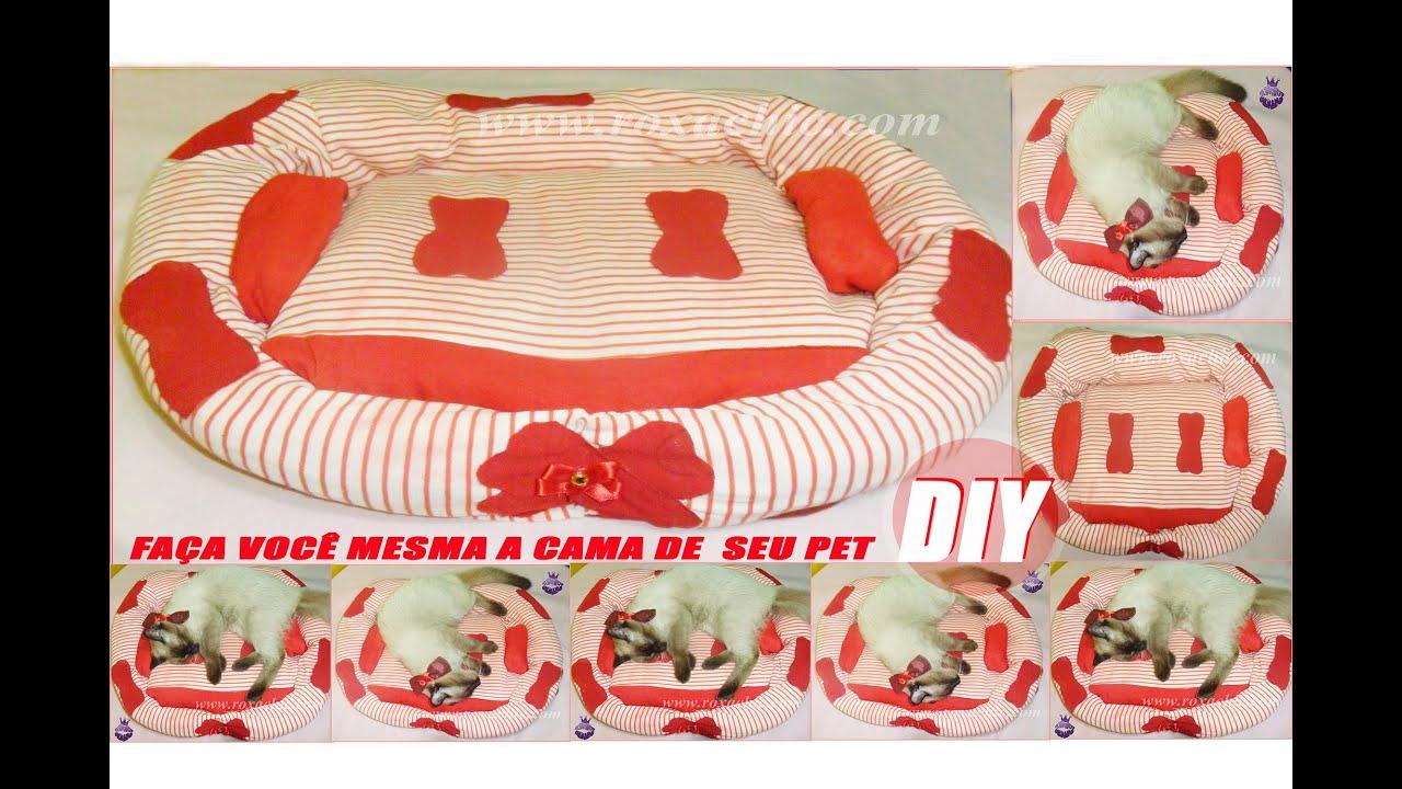 DIY Como Fazer Cama de Pet (Gato Cachorro ) Feita com Casaco  #B01B25 2250x1500 Banheiro De Gato Como Fazer