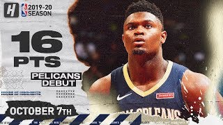 Zion Williamson SHOCKS THE WORLD! Pelicans Preseason Debut Highlights vs Hawks | October 7, 2019