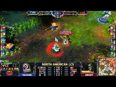 Team Solo Mid (TSM) vs compLexity (COL) - League of Legends LCS 2013 NA Spring W4D1