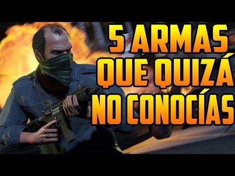 GTA 5 Online - 5 Armas Que Quizá No Conocías (GTA V)