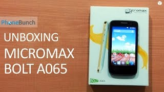 Micromax Bolt A065 Unboxing and Hands-on Overview