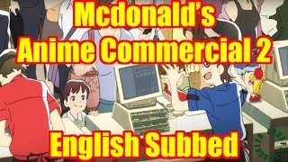 McDonald's Anime Commercial 2 English Subbed