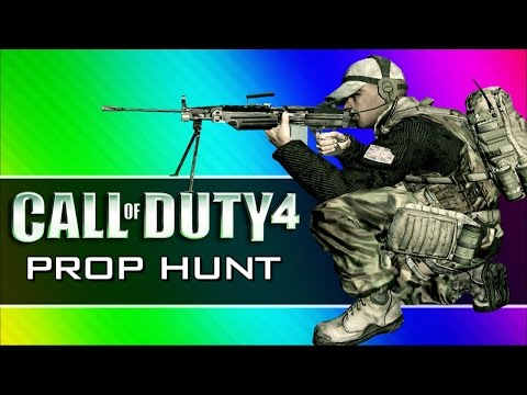 Call of Duty 4: Prop Hunt Funny Moments - First Blood, Claymore Tutorial, Yellow Crates! (CoD4 Mod)