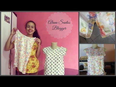 Como fazer abertura lateral na barra de blusas, calças ou vestidos Alana Santos Blogger