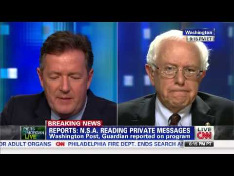 Sen. Bernie Sanders on CNN's Piers Morgan Tonight: I voted against the Patriot Act