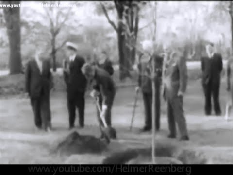May 16, 1961 - President John F. Kennedy and Jacqueline Kennedy at a tree planting ceremony, Ottawa