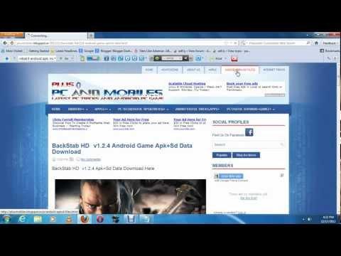 How to Download Asphalt 7,Modren Combat 4 zero hour,GTA vice city,Backstab With Apk + SD DATA