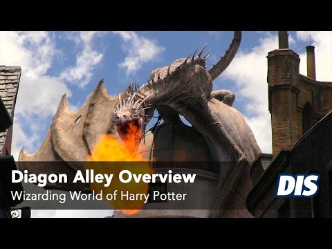 Diagon Alley Overview including Knockturn Alley. Leaky Cauldron and more!
