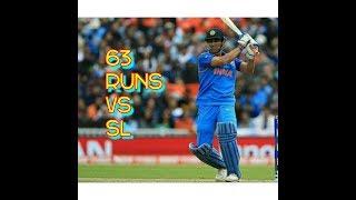 MS Dhoni Hits 63 Runs vs SL 8 june 2017