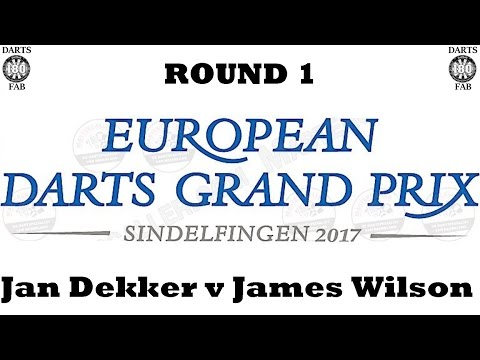 HappyBet European Darts Grand Prix - Round 1 [9of16]: Jan Dekker v James Wilson