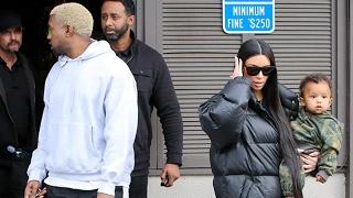Kim Kardashian And Kanye West Get Sushi With Kourtney
