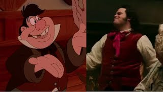 Gaston But Each Gaston Switches It Between The Animated And Live Action Version