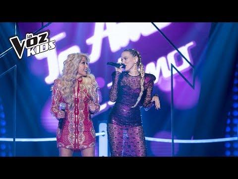 Yuri y Fanny Lu cantan Yo Te Amo, Te amo - Batallas | La Voz Kids Colombia 2018