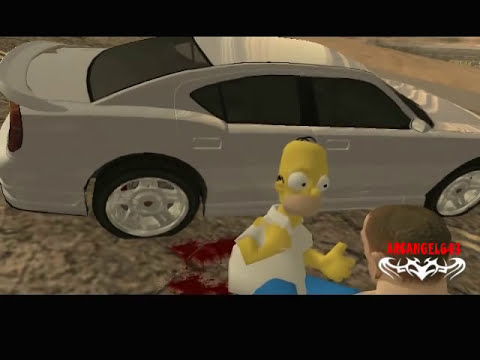 GTA Cj VS Homero Simpson y la Muerte del Tio Gilipollas