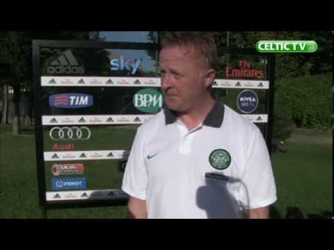 Celtic FC - UEFA Youth League Stevie Frail Post Match