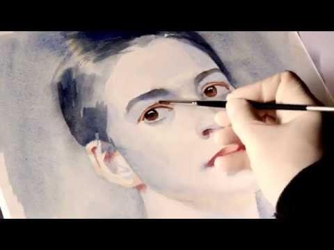 Видео как нарисовать лицо гуашью