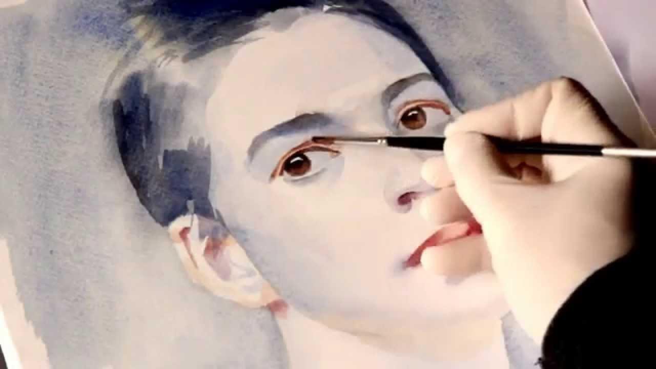 Как научиться рисовать портрет акварелью