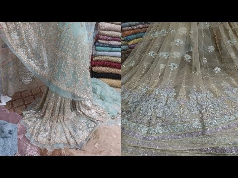 Fabric Designs #26 - Bridals Saree Dresses Embroidery Fabric 2018 trends For Girls