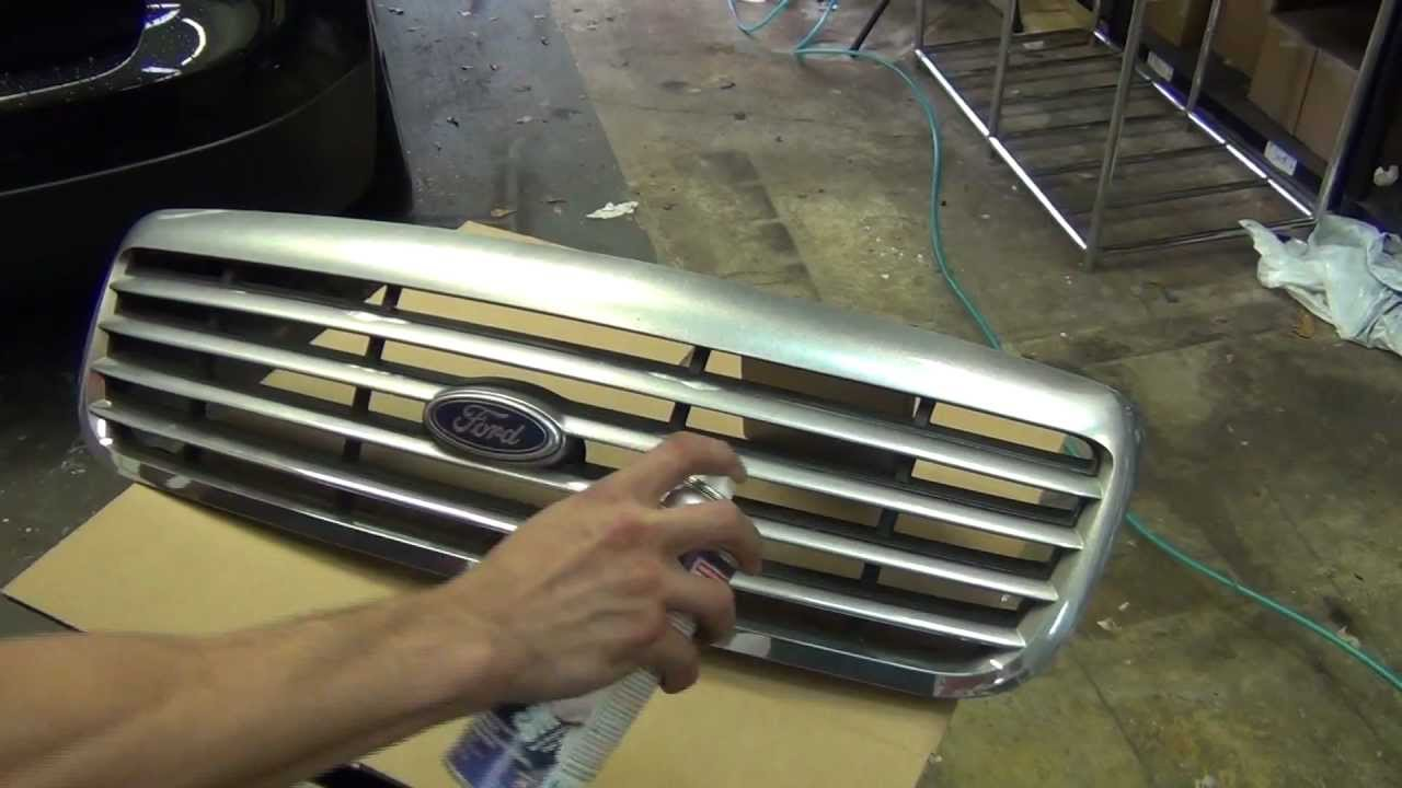 How To Paint Car Grill Chrome