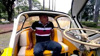 Vrum dá uma volta no pequeno Romi-Isetta, primeiro carro produzido em série do Brasil