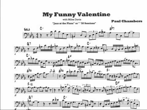 Paul Chambers My Funny Valentine Solo YouTube