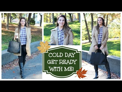 Get Ready With Me   Cold Day Makeup. Hair. Outfit