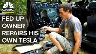 This Tesla Model S Owner Repairs His Own Car