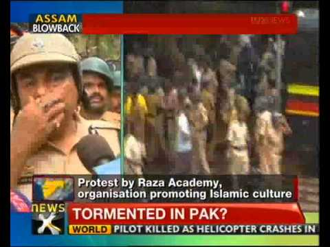 Azad Maidan: Protest against Assam riots turns violent, 2 killed - NewsX