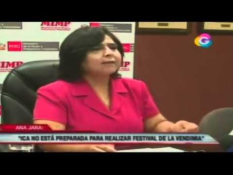 TRIBUNA ABIERTA 24-02-2012 MINISTRA DE LA MUJER PIDE SUSPENDER FESTIVAL DE LA VENDIMIA EN ICA