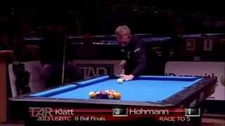 Perfect 8ball break - Amazing rack