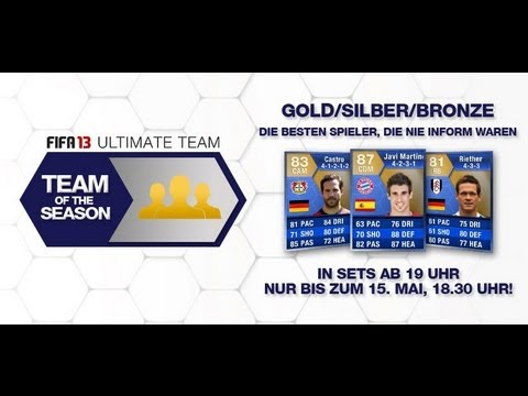 Fifa 13 Ultimate Team - TOTS Die konstantesten Gold Spieler Team of the Season 2013