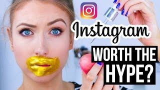 FULL FACE Using INSTAGRAM HYPED Makeup?! || What Worked & What DIDN