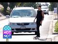 Justin Bieber Skateboards Through Santa Monica Airport -