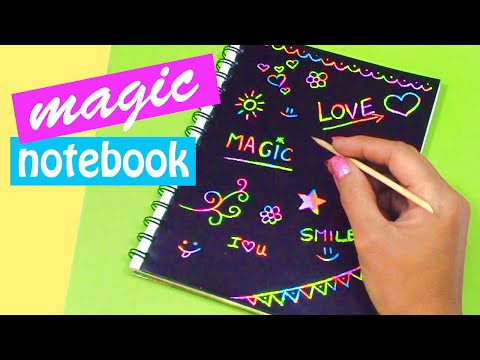 DIY crafts: MAGIC NOTEBOOK (Back to school) - Innova Crafts