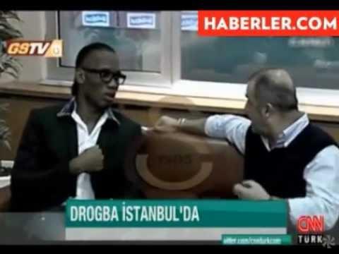 Galatasaray'ın yeni transferi Didier Drogba, Fatih Terim'le biraraya geldi