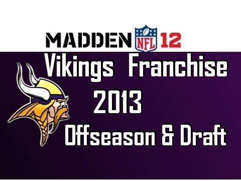 Madden 12 Vikings Franchise - Season 2 Offseason & NFL Draft [Ep.41]