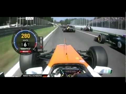 F1 2012 Nico Hulkenberg Start Italian GP