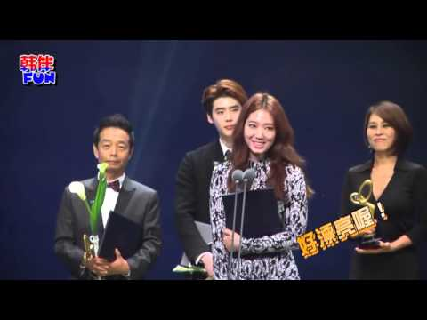 Video #ParkShinHye & #LeeJongSuk at The Korean Popular Culture & Arts Awards via 韩伴FUN