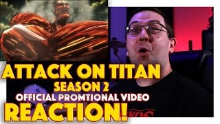 REACTION! Attack on Titan: Season 2 Official Promotional Video - #Anime Series 2017 #AttackOnTitan