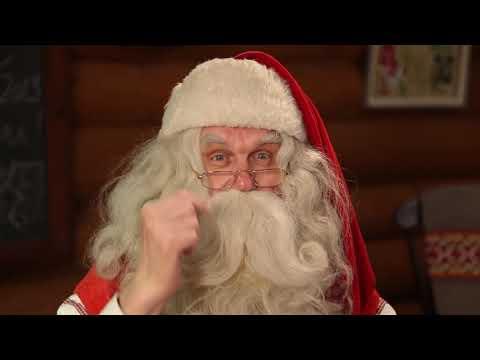 La felicitación de navidad de Papá Noel Santa Claus: un mensaje video Laponia Finlandia Rovaniemi