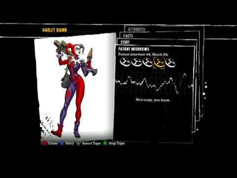 Batman: Arkham Asylum - Patient Interview Tapes - Harley Quinn
