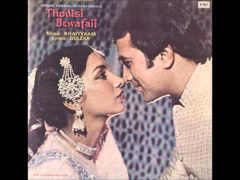 Kishore Kumar, Lata Mangeshkar - Hazaar Rahain - Thodisi Bewafai video
