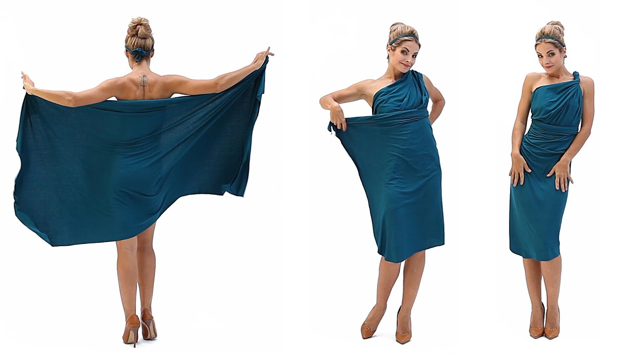 МК платье-трансформер / как сшить платье трансформер 95