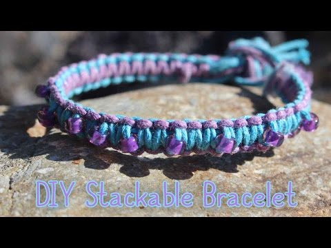 DIY Beaded Cobra Stitch Bracelet