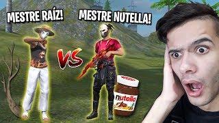 MESTRE RAÍZ VS MESTRE NUTELLA NO FREE FIRE (Desafio de Kills)