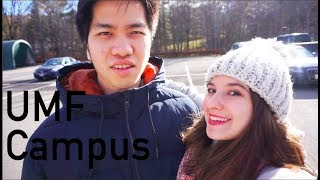 Thanksgiving Vlog 3: Campus Tour of The University of Maine at Farmington (UMF) | Audrey Nguyen